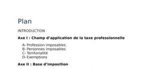 Taxe professionnelle au maroc