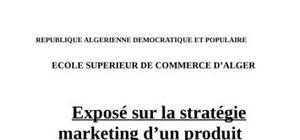 La stratégie marketing d'un produit industriel