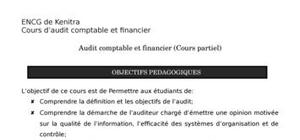 Audit comptable et financier (cours partiel)