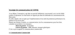 Strategie de communication sapak