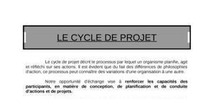 Mise en place du cycle de projet