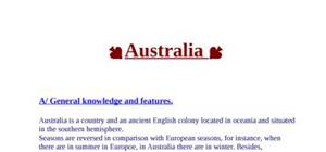 Exposé d'anglais sur l'australie