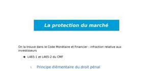 La protection du marché