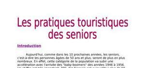 Les pratiques touristiques des seniors