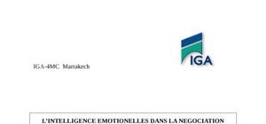 L'intelligence emotionelles dans la negociation