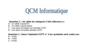 Qcm informatique (25 questions)