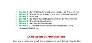 La decision de financement