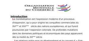 Organsation mondiale du commerce