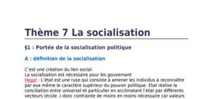 Science politique: la socialisation