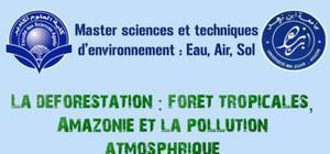 La déforestation: forêt tropicales, amazonie et la pollution atmosphérique