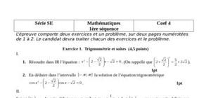Maths 1ere se  1ere séquence