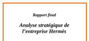 Analyse de la stratégie de hermes international
