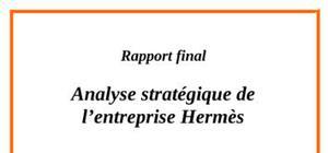 Analyse de la stratégie de hermes international