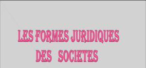 Formes juridiques des sociétés