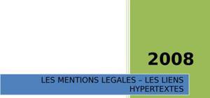 Mentions légales & liens hypertextes, plus mise en situation.