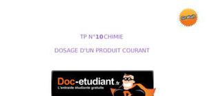 Tp : dosage d'un produit courant.