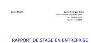 Fabrication des puces électrniques rapport de stage