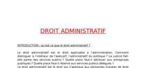 Cours droit administratif et les services publics