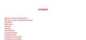 Lexique bancassurance