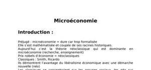 Theori de microeconomie