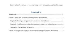 Coopération logistique et commerciale entre producteurs et distributeurs