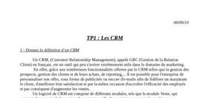 Outils crm (customer relationship management)