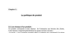 La politique de produit