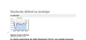 Analyse stratégique de starbucks