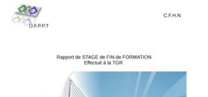 Rapport de stage  tgr