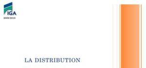 La distribution définition, rôles et fonctions