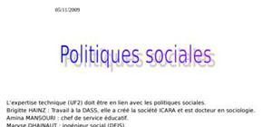 Politiques sociales definition chronologie