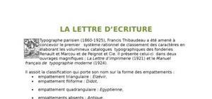 Classification de la typographie
