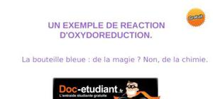 Un exemple de reaction d'oxydoreduction.