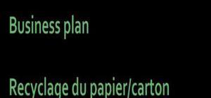 Businessplan recyclage du papier carton