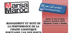Management et suivi de la performance de la chaine logistique portuaire cas des ports de tanger et casablanca