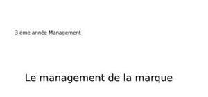 Management de la marque