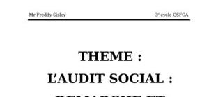 L'audit social : demarche et outils ; audit de recrutement, un memoire de fin de formatio