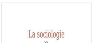 La sociologie: domaine et écoles