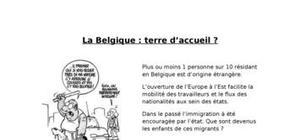 La belgique : terre d'accueil ?