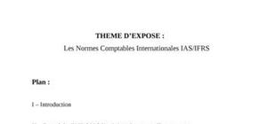 Les normes ias/ ifrs