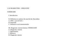 études complète du cas innocent