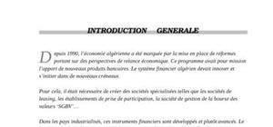 Le crédit bail(le leasing) en algérie