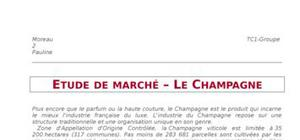 Etude de marché du champagne