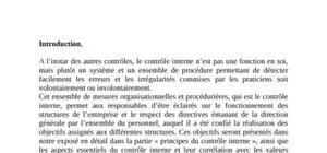 Controle interne te audit interne