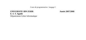 Langage programmation c