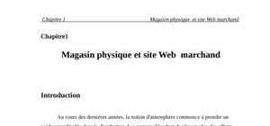 Magasin physique et site web  marchand