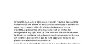 Les établissement fiscales au maroc