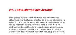 L'evaluation des actions