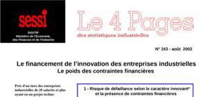 Le financement de l'innovation des entreprises industrielles le poids des contraintes financières