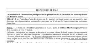 Les accords de bale: normes prudentielles
